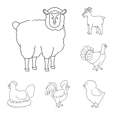 Isolated object of homemade and countryside symbol. Collection of homemade and agriculture vector icon for stock. Illustration