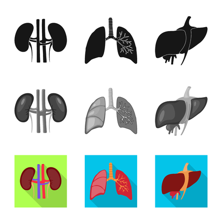 Isolated object of biology and scientific icon. Set of biology and laboratory stock vector illustration.