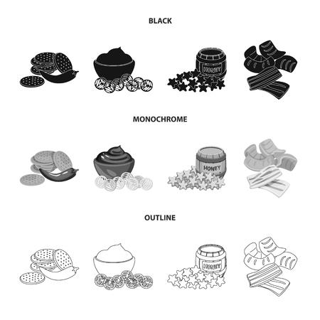 Vector illustration of taste and seasonin icon. Set of taste and organic   stock vector illustration.