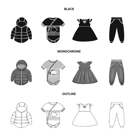 Vector design of fashion and garment icon. Set of fashion and cotton vector icon for stock.