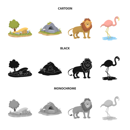 Isolated object of nature  and fun  symbol. Collection of nature  and entertainment stock symbol for web.