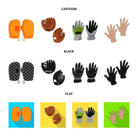 Vector design of silhouette and safety sign. Set of silhouette and comfort vector icon for stock. Vettoriali