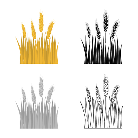 Vector illustration of agriculture and farming symbol. Collection of agriculture and plant  stock vector illustration.