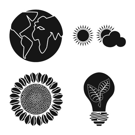 Vector design of innovation and technology symbol. Set of innovation and nature  stock vector illustration.  イラスト・ベクター素材