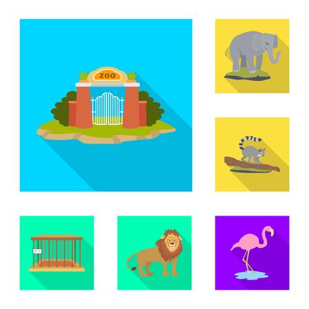 Vector design of safari  and animal icon. Collection of safari  and fun  stock symbol for web.