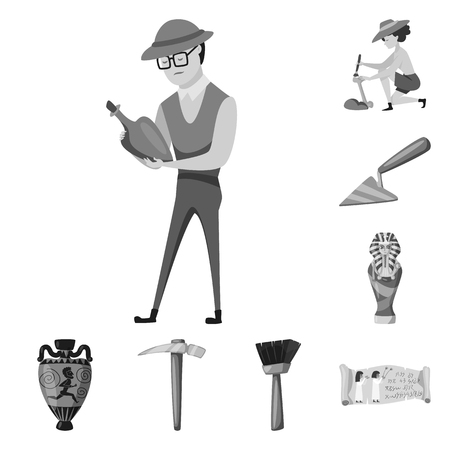 Isolated object of story and discovery. Set of story and items vector icon for stock.