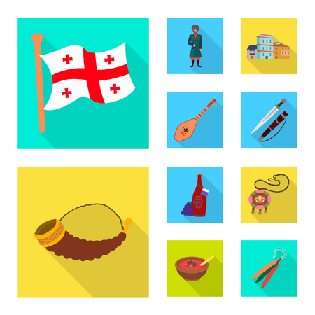 Vector illustration of culture and sightseeing icon. Set of culture and originality stock vector illustration.