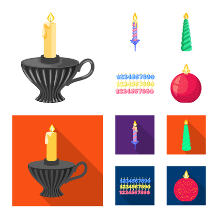 Vector design of relaxation and flame symbol. Collection of relaxation and wax vector icon for stock.