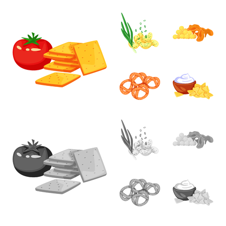 Vector design of taste and seasoning. Collection of taste and organic   stock symbol for web.