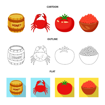 Vector design of taste and product symbol. Collection of taste and cooking stock vector illustration.