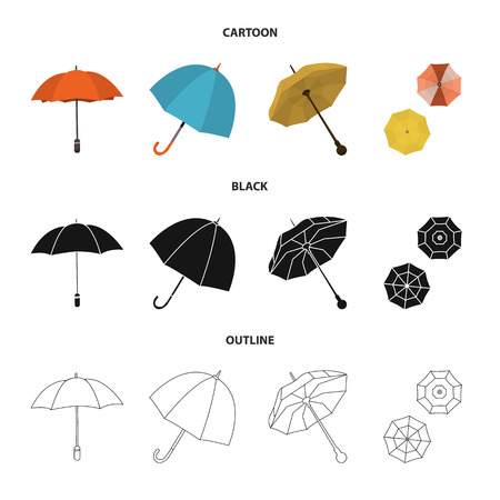 Isolated object of protection and closed icon. Collection of protection and rainy vector icon for stock.