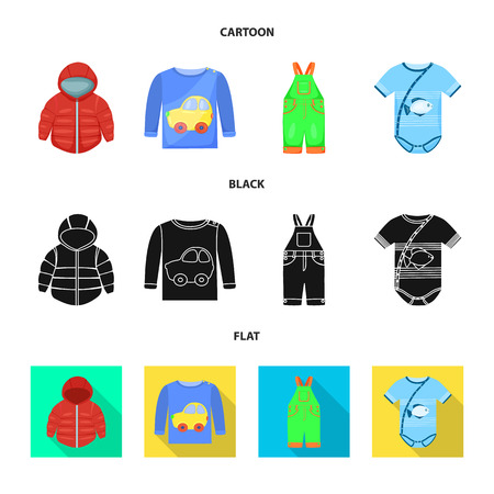 Vector design of fashion and garment symbol. Set of fashion and cotton vector icon for stock. Illustration