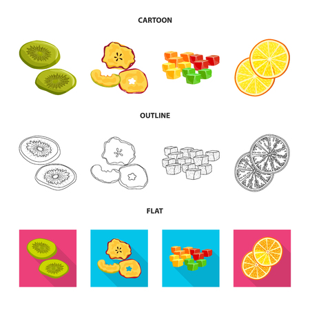 Vector design of food  and raw  sign. Collection of food  and nature   stock symbol for web.