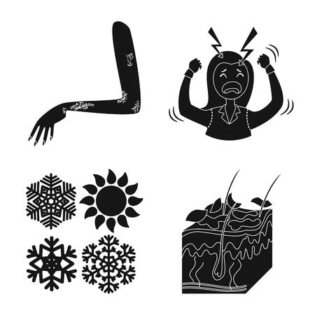 Objet isolé de soins de santé et logo médical. Collection de symbole boursier de soins de santé et de dermatologie pour le web.