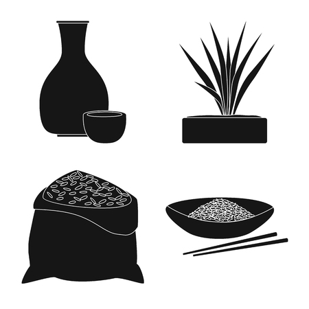 Vector illustration of diet and cooking symbol. Set of diet and organic stock vector illustration.  イラスト・ベクター素材