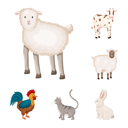 Vector illustration of farm and food icon. Set of farm and countryside stock vector illustration.