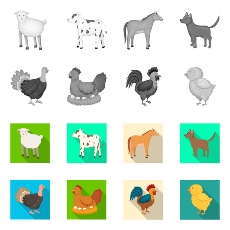 Vector design of breeding and kitchen  logo. Collection of breeding and organic  stock symbol for web.