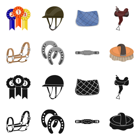 Isolated object of equipment and riding logo. Collection of equipment and competition vector icon for stock. Stockfoto - 124516924
