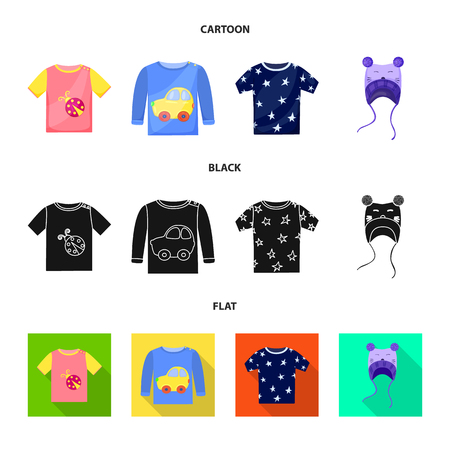 Vector design of fashion and garment sign. Collection of fashion and cotton stock symbol for web. Illustration