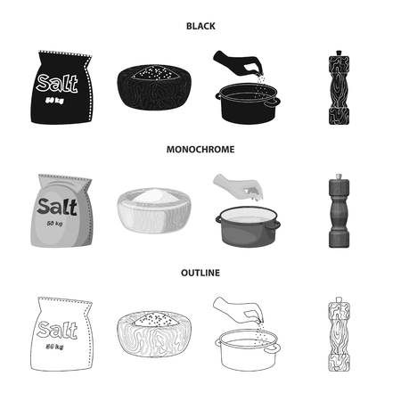 Vector design of cooking and sea icon. Set of cooking and baking   stock symbol for web. Ilustração