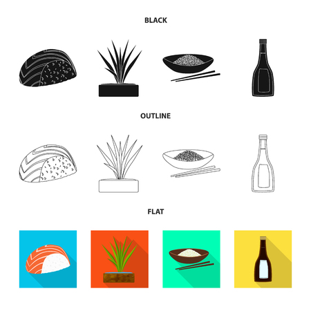 Vector illustration of crop and ecological sign. Collection of crop and cooking stock vector illustration.
