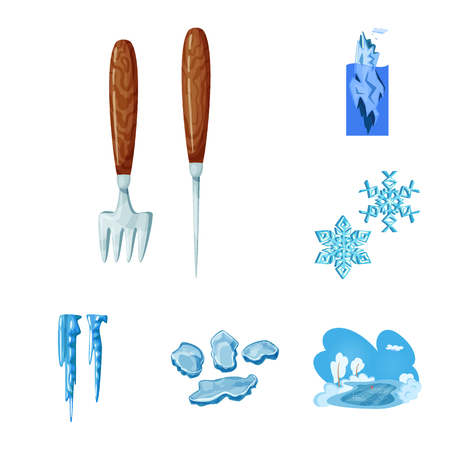 Vector design of frost and water  symbol. Set of frost and wet  stock vector illustration.