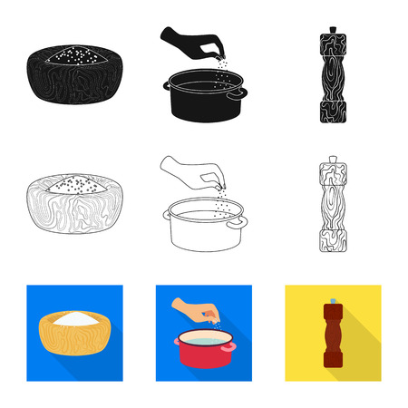Vector design of cooking and sea icon. Collection of cooking and baking   stock vector illustration. Ilustração