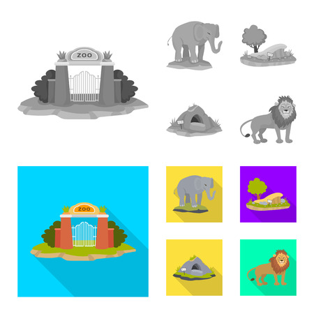 Isolated object of nature  and fun  icon. Set of nature  and entertainment stock symbol for web.