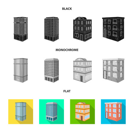 Vector design of construction and building icon. Set of construction and estate stock vector illustration.