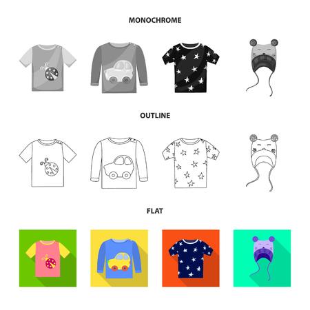 Vector design of fashion and garment symbol. Collection of fashion and cotton stock symbol for web.