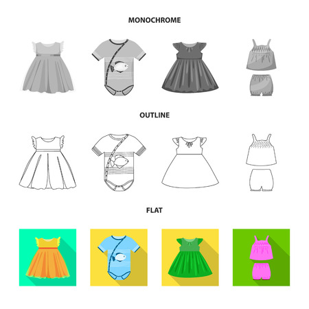 Isolated object of fashion and garment sign. Set of fashion and cotton vector icon for stock. Illustration