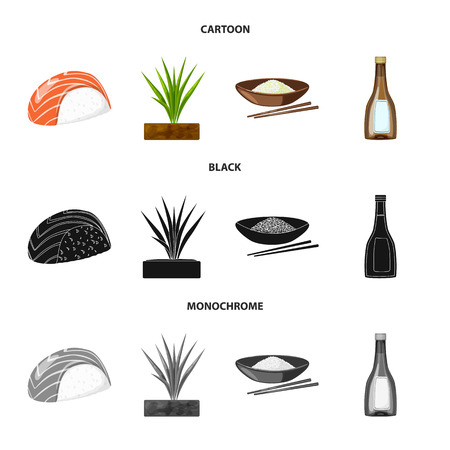 Vector design of crop and ecological icon. Collection of crop and cooking stock vector illustration. Иллюстрация