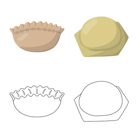 Vector illustration of products  and cooking icon. Collection of products  and appetizer stock vector illustration. Ilustrace
