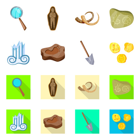 Vector illustration of story and items sign. Collection of story and attributes  vector icon for stock. Иллюстрация