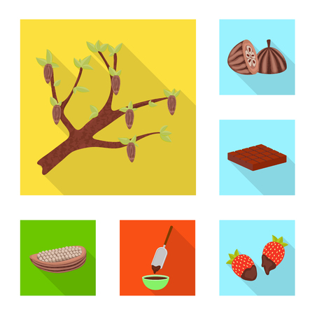 Vector design of treat and product logo. Set of treat and yummy stock symbol for web.