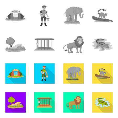 Isolated object of nature  and fun  logo. Collection of nature  and entertainment vector icon for stock.
