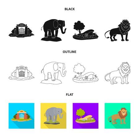 Oggetto isolato della natura e dell'icona del divertimento. Insieme di simbolo di borsa natura e intrattenimento per il web.