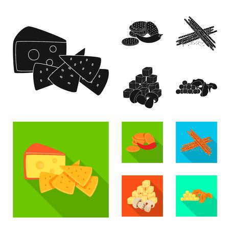Vector design of taste and seasonin logo. Set of taste and organic   stock vector illustration.