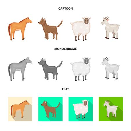 Vector illustration of breeding and kitchen symbol. Collection of breeding and organic stock vector illustration.