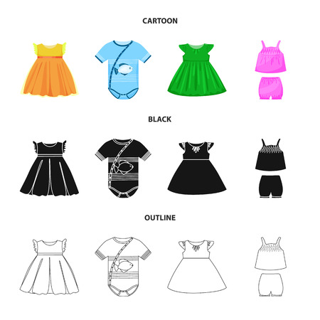 Vector design of fashion and garment icon. Collection of fashion and cotton stock symbol for web. Stock Vector - 124447836
