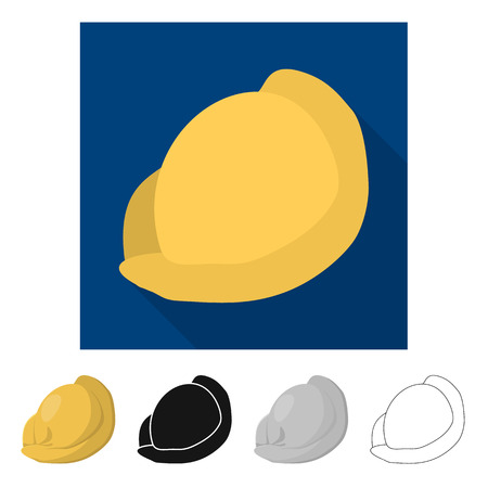 Isolated object of ravioli  and pierogi logo. Collection of ravioli  and pelmeni  vector icon for stock.