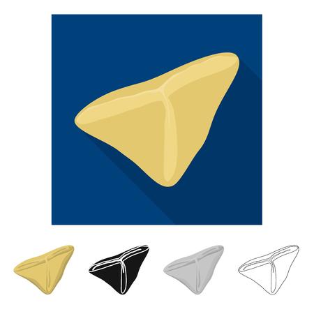 Vector design of ravioli  and pierogi icon. Set of ravioli  and pelmeni vector icon for stock. Illustration
