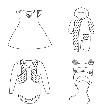 Collection of wear and apparel stock symbol for web.