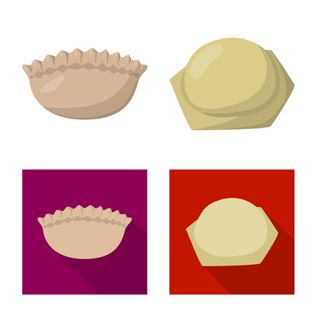 Isolated object of products  and cooking icon. Illustration