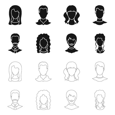Vektordesign von Berufs- und Fotozeichen. Sammlung von Berufs- und Profilaktiensymbolen für das Web. Vektorgrafik