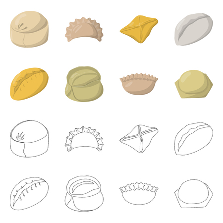 Vector design of products  and cooking symbol.
