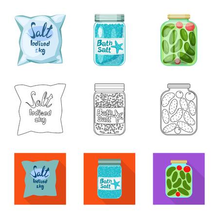 Design of cooking ingredient icon. Stock Illustratie