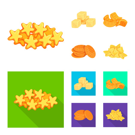 Isolated object of Oktoberfest and bar symbol. Set of Oktoberfest and cooking vector icon for stock.