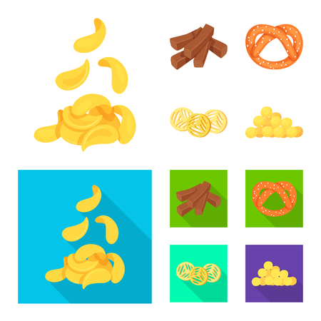 Vector illustration of Oktoberfest and bar icon. Collection of Oktoberfest and cooking stock symbol for web.