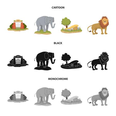 Set of animals on white